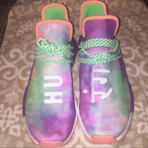 sale retailer ba69b 28568 Adidas Pharrell NMD HU Holi human race chalk coral